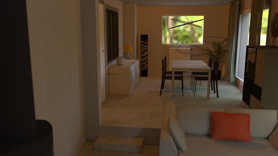 Aménagement d'un séjour dans une villa autour de Bresson-2